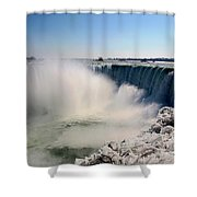Falling Ice Shower Curtain
