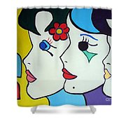 Falling In Love Shower Curtain