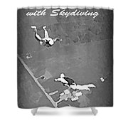 Falling In Love With Skydiving Shower Curtain