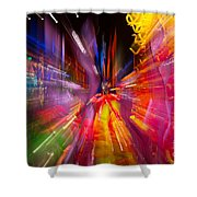 Falling Into Glass Shower Curtain