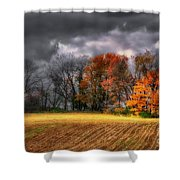 Falling Into Winter Shower Curtain by Lois Bryan