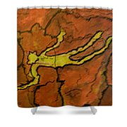 Falling Man Rock Art Shower Curtain