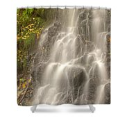 Falling On The Leaf Shower Curtain