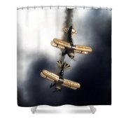 Falling Pitts Shower Curtain