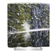 Falling Snow Shower Curtain