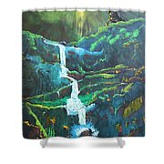 Falling To Grace Shower Curtain