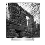 Falling Wall Jerome Black And White Shower Curtain
