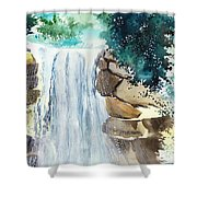 Falling Waters Shower Curtain