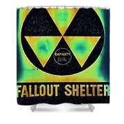 Fallout Shelter Abstract 2 Shower Curtain