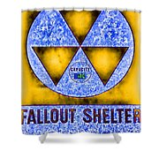 Fallout Shelter Abstract 4 Shower Curtain