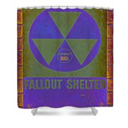 Fallout Shelter Abstract Shower Curtain