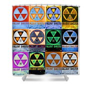 Fallout Shelter Mosaic Shower Curtain