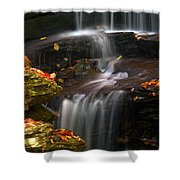 Falls And Fall Leaves Shower Curtain