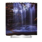 Falls And Log Shower Curtain
