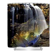 Falls And Rainbow Shower Curtain