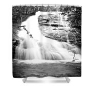 Falls Branch Falls Shower Curtain by Valeria Donaldson
