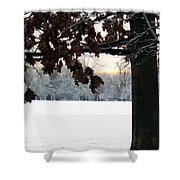 Falls Colors At First Snowfall Shower Curtain