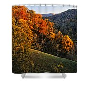 Fall's Mountainside Cascade Shower Curtain
