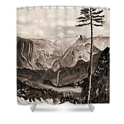 Falls Of The Yosemite Painting Shower Curtain