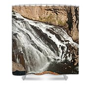Falls On The Gibbon River In Yellowstone National Park Shower Curtain