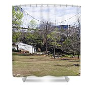 Falls Park On The Reedy Greenville Shower Curtain