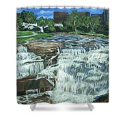 Falls River Park Shower Curtain