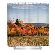 Fall's Splendor - Casper Mountain - Casper Wyoming Shower Curtain