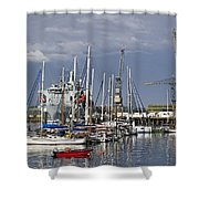 Falmouth Harbour And Docks Shower Curtain