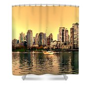 False Creek Triptych Centre Panel Shower Curtain