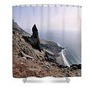 Famara Cliffs On Lanzarote Shower Curtain