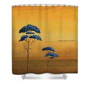 Famboyanes Azules Shower Curtain
