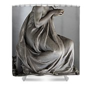 Famiglia Meretti Grave Marker Monumental Cemetery Milan Italy Shower Curtain