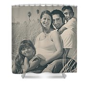 Family Beach Day Shower Curtain