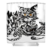 Family Cat Shower Curtain