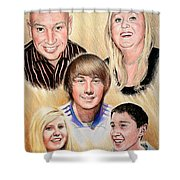 Family Collage Commissions Shower Curtain