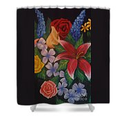 Family Flowers Shower Curtain