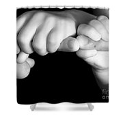 Family Hands  Shower Curtain by Ofer Zilberstein