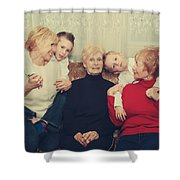 Family Shower Curtain by Laurie Search