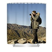 Family On The Great Wall Shower Curtain