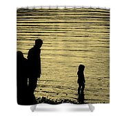 Family Paddle Shower Curtain