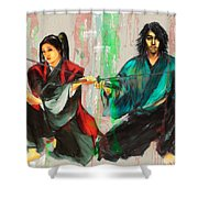 Family Samurai  Shower Curtain