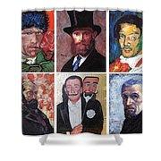 Famous Artist Self Portraits Shower Curtain