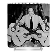 Famous Guitarist Carlos Montoya 1953 Shower Curtain