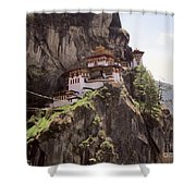 Famous Tigers Nest Monastery Of Bhutan 12 Shower Curtain