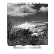 Fan Fawr Brecon Beacons 1 Mono Shower Curtain
