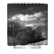 Fan Fawr Brecon Beacons 2 Mono Shower Curtain