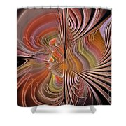 Fan Of Color Shower Curtain