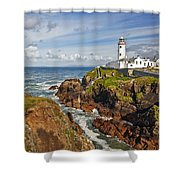 Fanad Lighthouse Donegal Ireland Shower Curtain