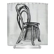 Fanback Parlor Chair Shower Curtain