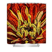 Fanciful Bold Floral Mosaic Shower Curtain